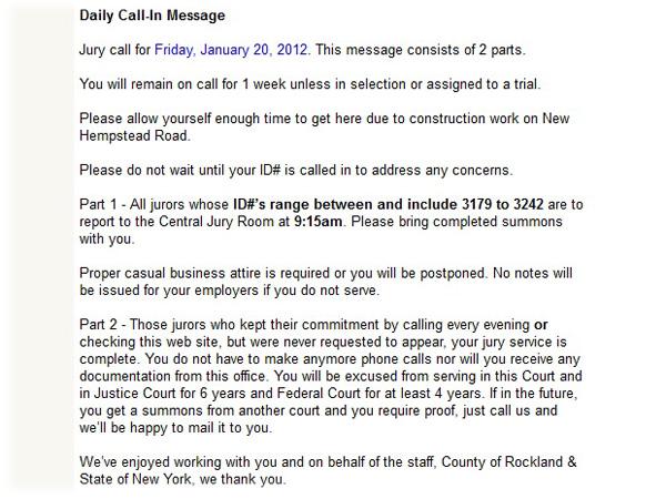 Jury duty (Or: Rockland County, NY vs. The Netherlands) (2/2)