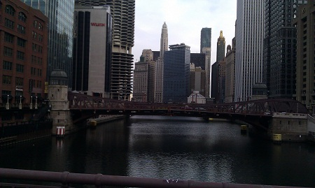 Bridge over Chicago river December 2011