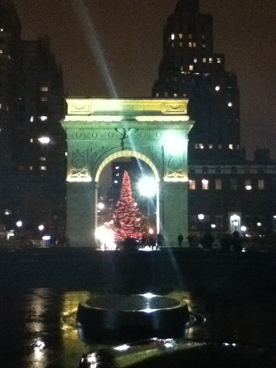 Christmas tree at Washington Square NYC