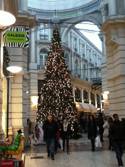 Christmas tree in De Passage in The Hague