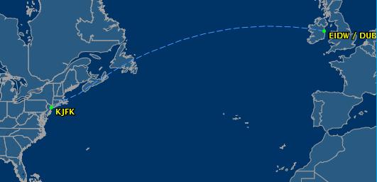 flight from Dublin to JFK