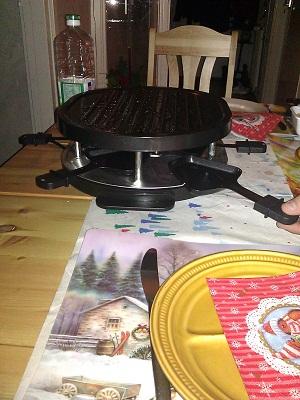 gourmetten pan warming up