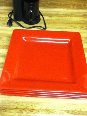 Macys red plates