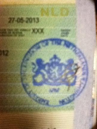 Official stamp on Dutch MVV sticker