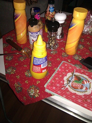 various condiments for gourmetten