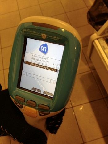 Albert Heijn barcode scanner