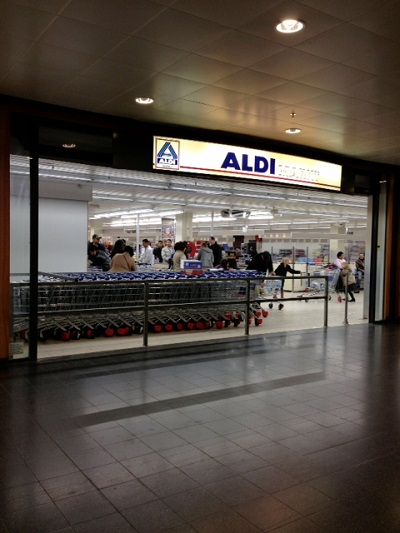 Aldi store in Megastores mall