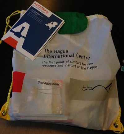 bag from the International Centre in the Hague