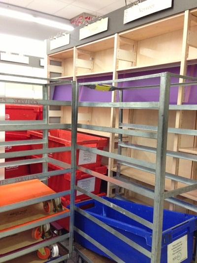 empty shelves at De Slegte in The Hague