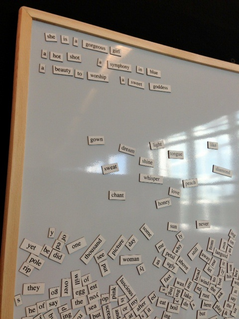 magnetic poetry at The Hague public library