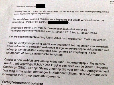 VVR approval letter from the Dutch IND