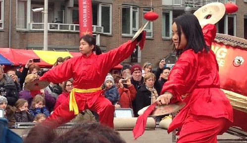 Chinese New Year Den Haag 2013 cymbal dancers