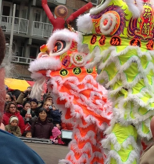 Chinese New Year Den Haag 2013 two dragons