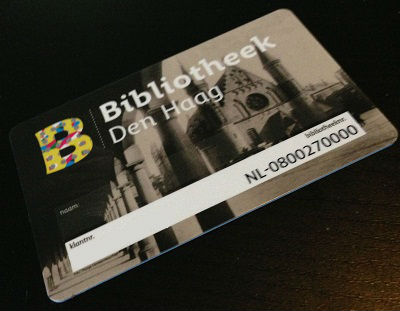 library card from Bibliotheek Den Haag