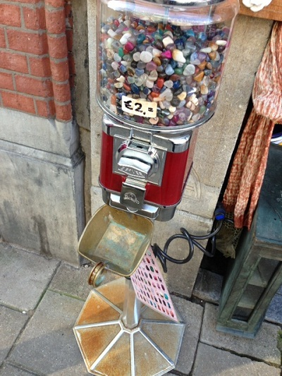 rocks for sale in a candy dispenser