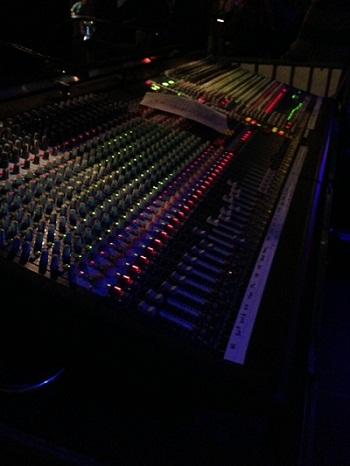 soundboard at BRAD concert