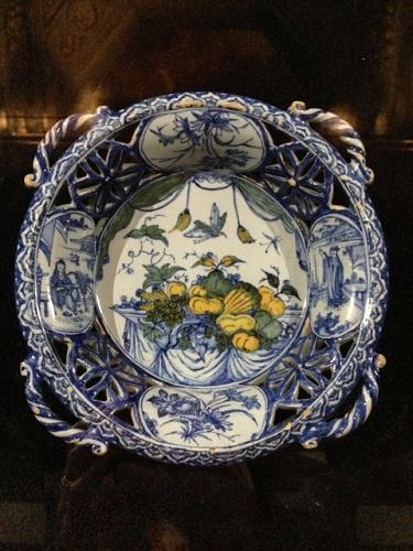 Gemeente Museum Delft blauw plate