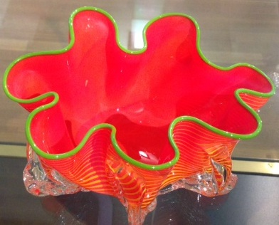 Gemeente Museum orange glass sculpture