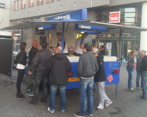 Bavaria beer stand in The Hague