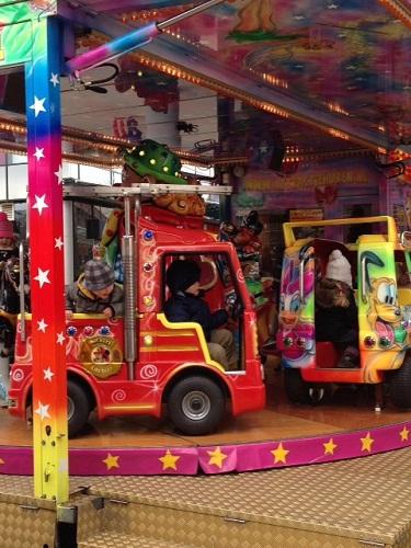 car carousel in a carnival in Rijswijk NL