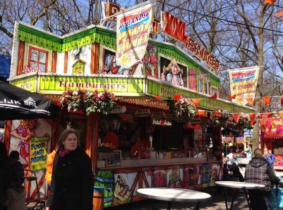 food stand at a Dutch carnival