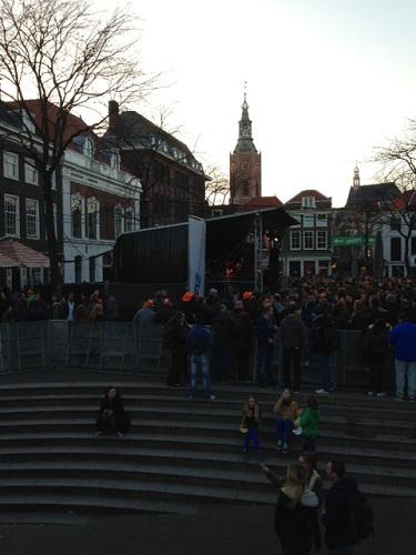 Grote Markt stage Koninginnenacht The Hague 2013