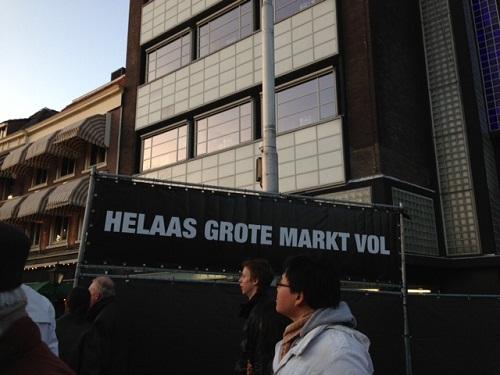 Grote Markt vol Koninginnenacht The Hague 2013