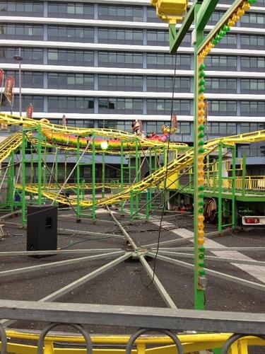 kiddie coaster at a carnival in Rijswijk NL