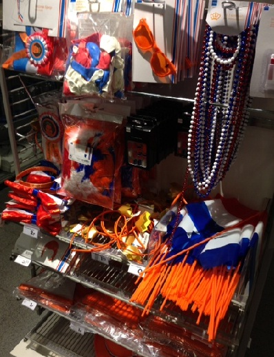 Queens Day in the Netherlands store display