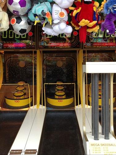 Skiball at a carnival in Rijswijk NL