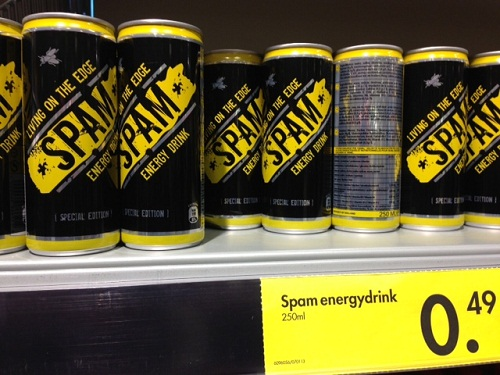 Spam energy drink in the Netherlands