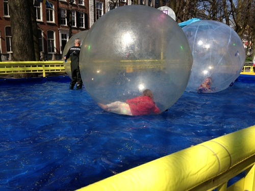 water bubble ride in a Dutch carnival