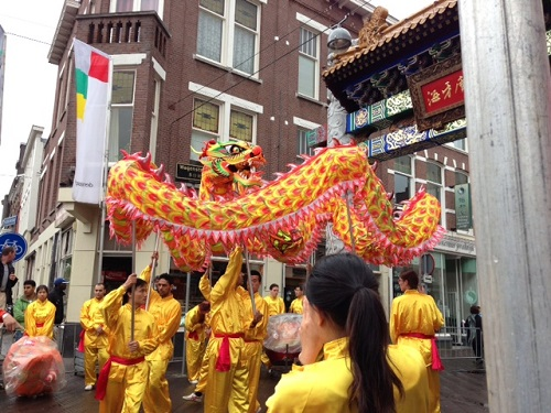 Chinatown demonstration for Willem Alexander