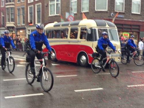 Dutch police on bikes after Willem Alexander