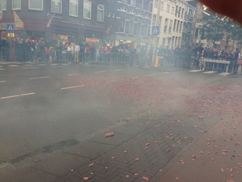 firework remains in The Hague
