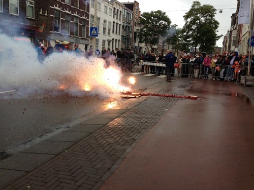 fireworks for Willem Alexander in The Hague