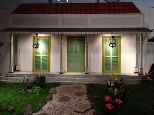 replica house at Tong Tong Fair
