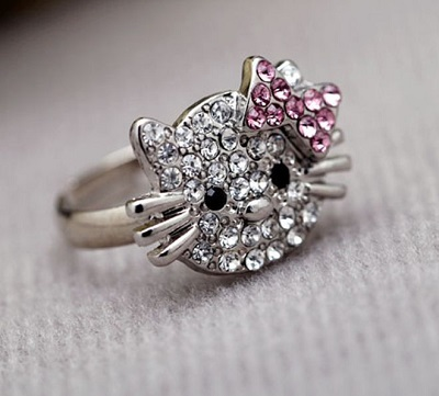 wrapped childrens children kids ring il girls s crystal jewelry rings kid princess listing for wire