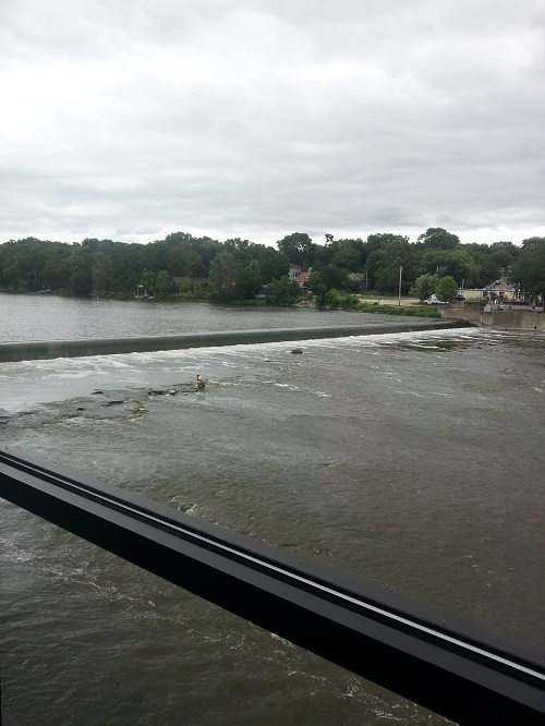view of Fox River from Riverside Receptions