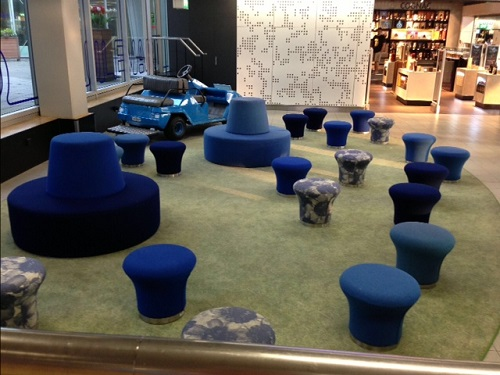 chairs in Schiphol airport