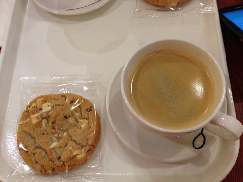 Hema cookie and coffee