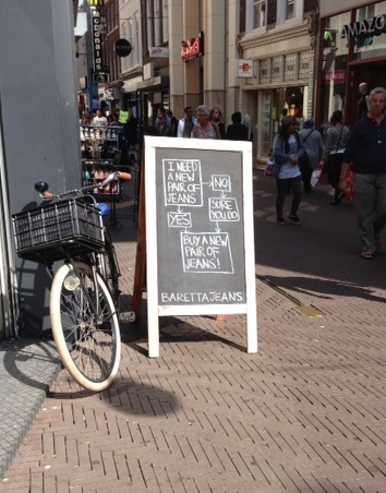 jeans advertisement in The Hague