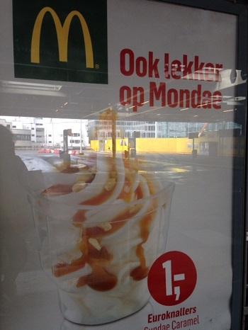 McDonalds advertisement in The Netherlands