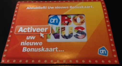 new Albert Heijn bonus card packet