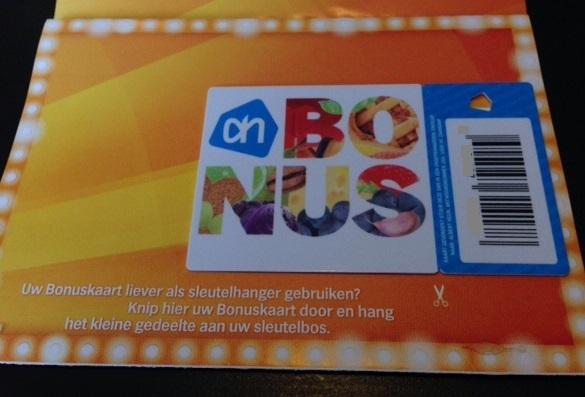 bonuskaart sleutelhanger