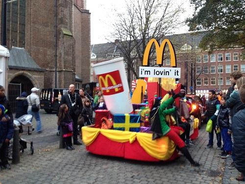 Sinterklaas parade McDonalds advert Den Haag 2013