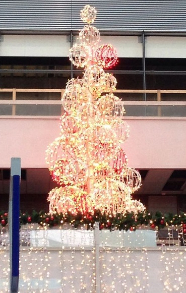 Christmas tree in the Central Station, The Hague