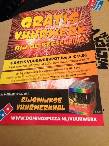 free fireworks with your pizza offer