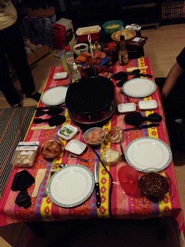 the start of Dutch gourmetten