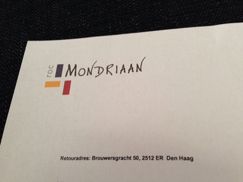 letter from ROC Mondriaan